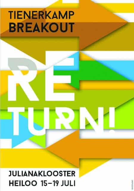 Tienerkamp 2016 voor tieners en vormelingen 'Breakout! thema Return!'