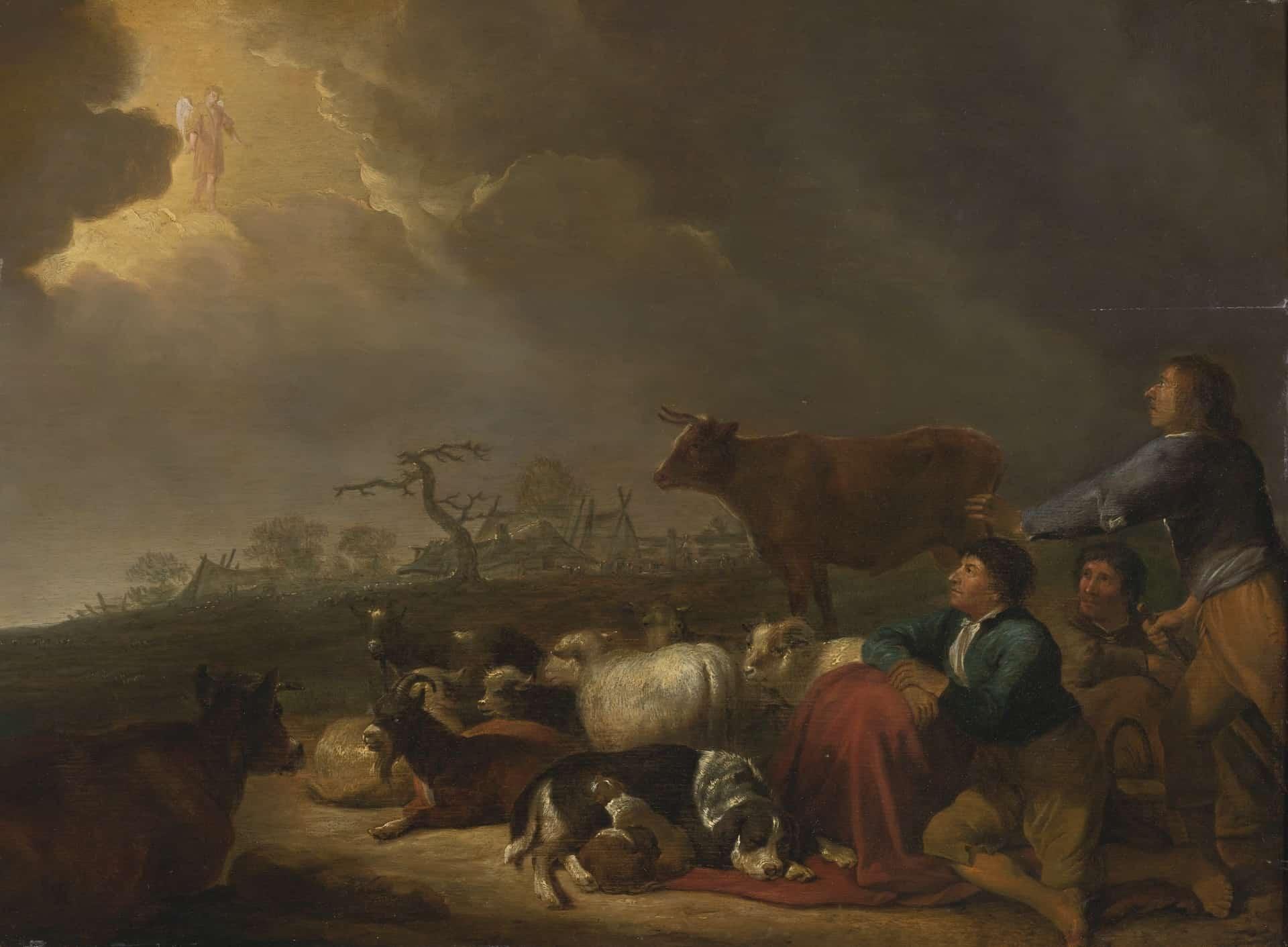 Herders zij lagen bij nacht in het veld Kerstretraite 2017 Heiligdom Onze Lieve Vrouw ter Nood Retraite