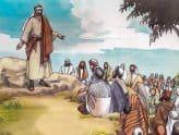 Jezus onderricht de menigte