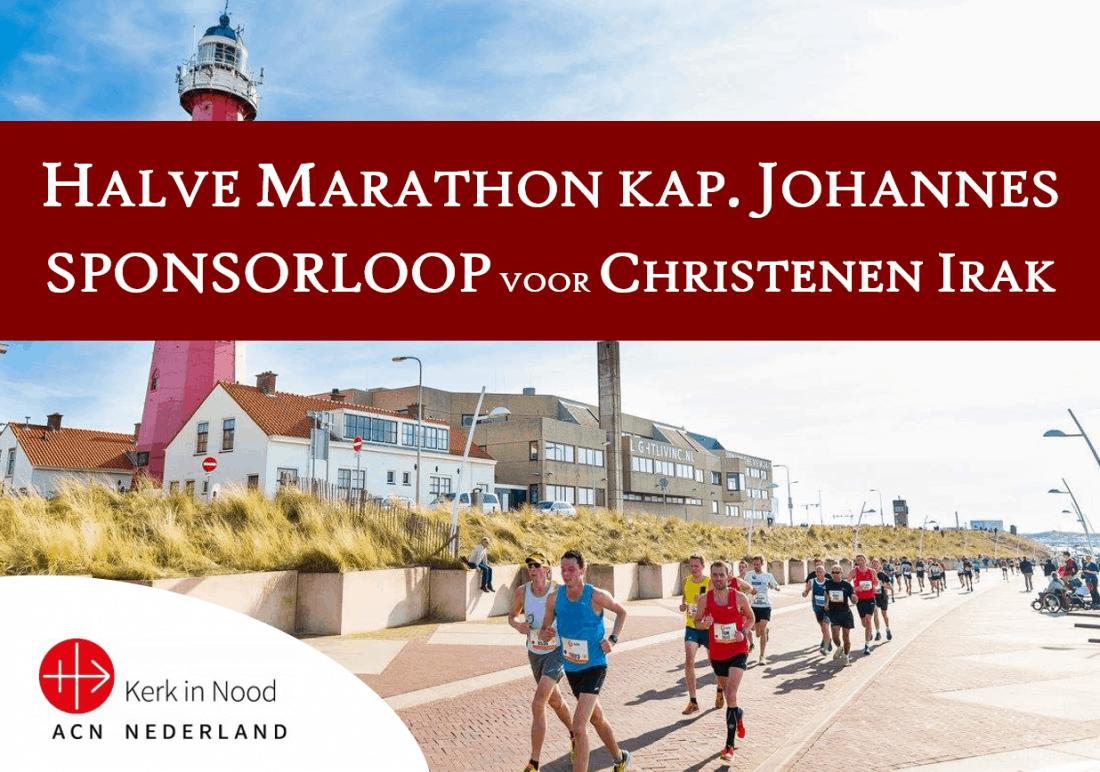 Doneer nu geef halve marathon kapelaan Johannes Christenen Irak Kerk in Nood