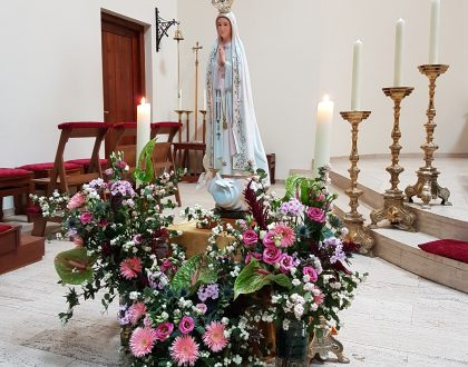 OLV ter Nood Beeld van Fatima in de Bedevaartkerk (4)