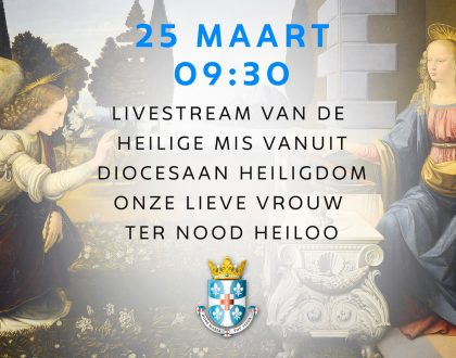 livestream H Mis 25 maart