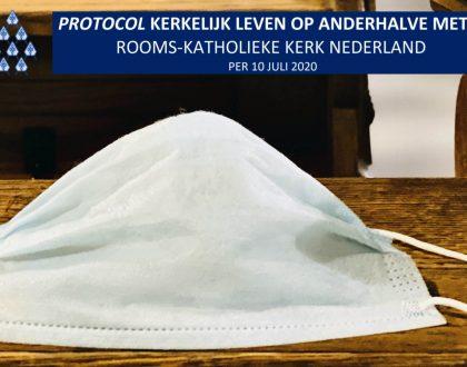 Nieuwe versie protocol 'Kerkelijk leven op aanderhalve meter' 10 juli 2020