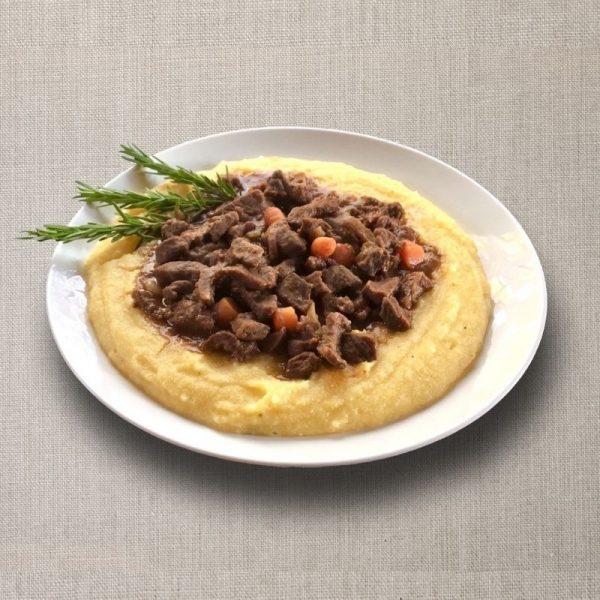 polenta con spezzatino olv ter nood heiloo catering-01