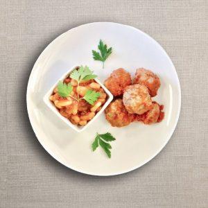 polpette al sugo con fagioli olv ter nood heiloo catering-01