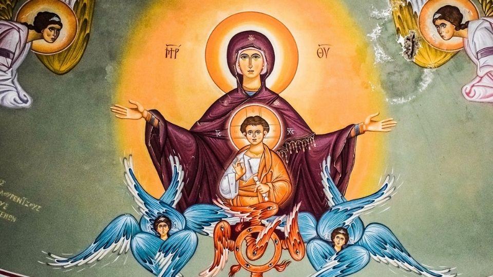 olv ter nood heilige maagd maria koninging van de hemel